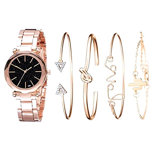 RTUQ Reloj de pulsera para mujer, moderno, lujoso, con correa de piel hueca, reloj mecánico, reloj de pulsera retro, pulsera para mujeres, día de la madre