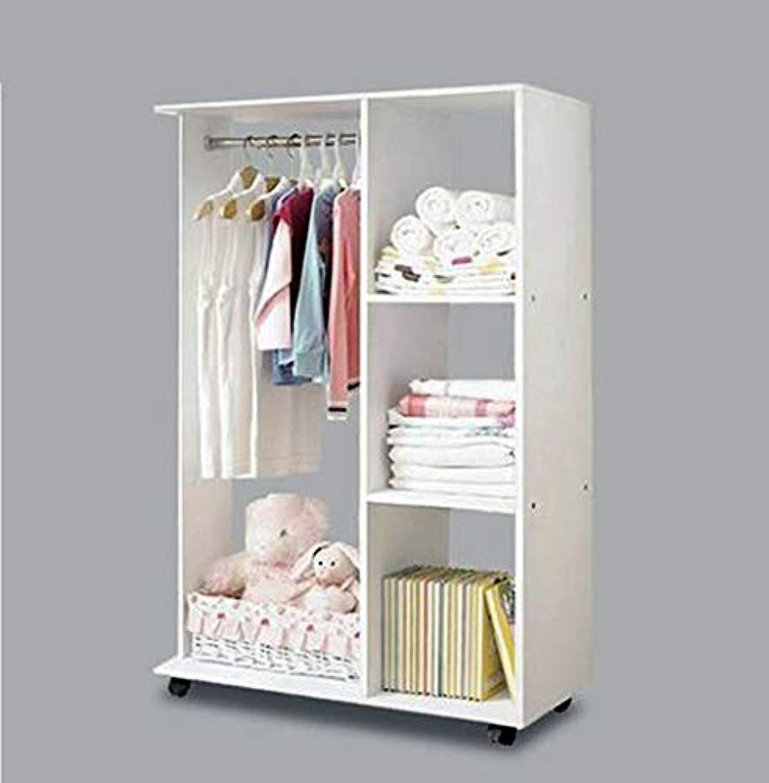 Varossa's Essentials Wardrobe Shelf Closet Cupboard with Hanging Rack (White)