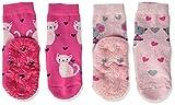 Sterntaler Mädchen Glitzer-flitzer Air Sterne Socken, 2er Pack, Mehrfarbig (Magenta), 20