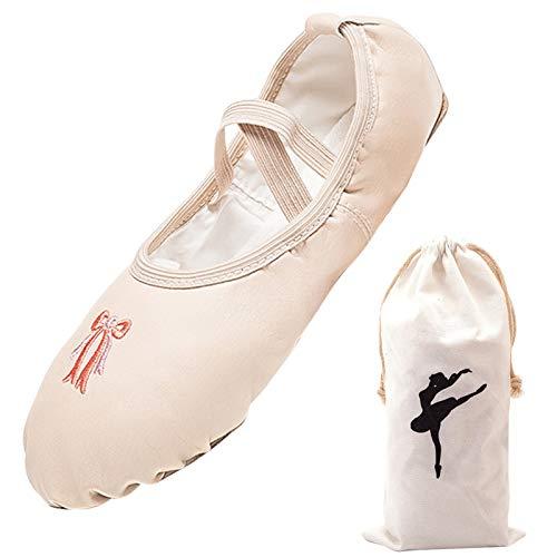 Panegy Zapatos de Punta Lona Zapatillas de Ballet Transpirable Zapatos de Ballet Profesionales
