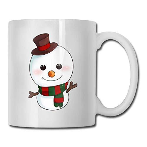 Taza de té con diseño de muñeco de nieve con texto en inglés 'Snowman Best Gift Idea', divertida taza