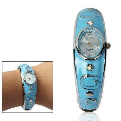 LBBL Reloj Mujer, Reloj Acero Inoxidable con Pulsera Diamantes Reloj de Mujer (Color : Black)