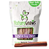 Nature Gnaws Jumbo Bully Sticks for Large Dogs - Premium Natural Beef...