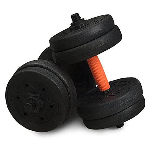 ZRL Musculación Juego de Mancuernas 2 en 1 Protección Ambiental Desmontable combinada con Recubrimiento de Goma para Deportes para el hogar Equipos de Fitness Dumbbells ⭐