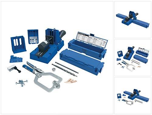 Einspannvorrichtung für Löcher Hole Jig K5MS-EUR, blau, von Kreg