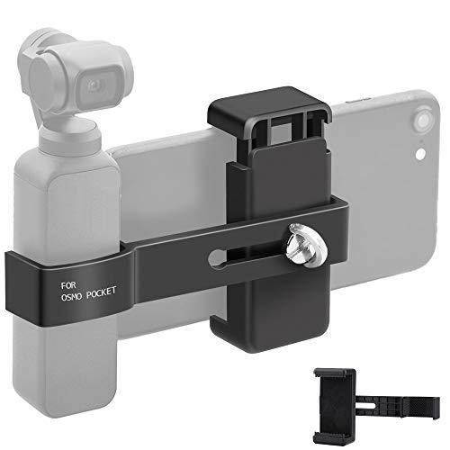 Osmo Pocket Supporto per Telefono - con 1/4 Foro per Viti - Staffa di Espansione Supporto per Staffa Mobile per DJI OSMO Pocket
