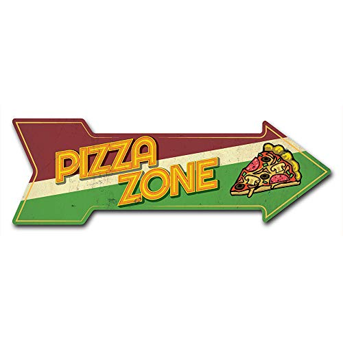 """SignMission Decal Art Pizza Zone Decal Indoor/Outdoor Decor 24"""" Directional Sticker Vinyl Wall Decals"""