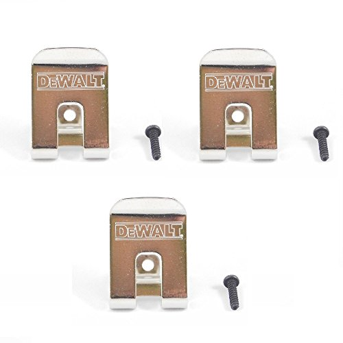 DeWalt 659916-00SV Belt Clip/Hook 3-Pack for 18V Impact Driver and Drills
