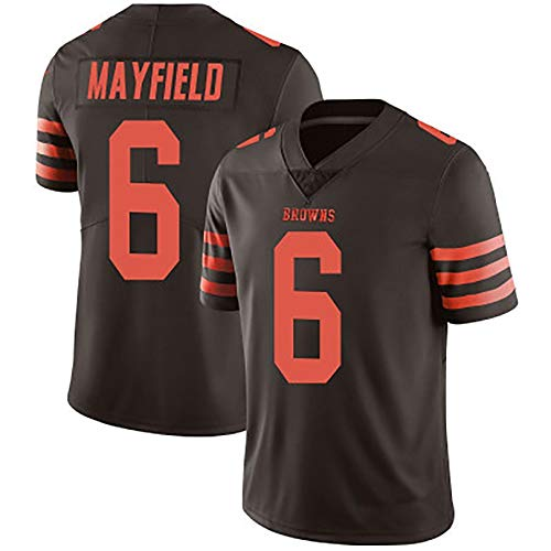 GHJL Camiseta de Rugby para Hombre, Adecuada para la Camiseta de Rugby Browns 6# Mayfield Legend II, de Secado rápido L C