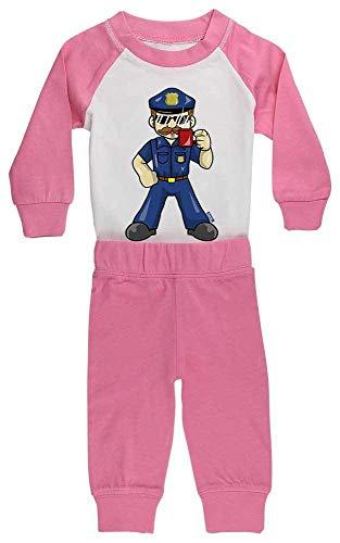 HARIZ Baby Pyjama Polizist Cool Tasse Polizei Lustig Inkl. Geschenk Karte Pink/Fuchsia 36-48 Monate