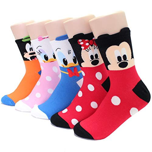EVEI Animation Character Cartoon Series Collection Women's Original Socks (D01_5 pairs)