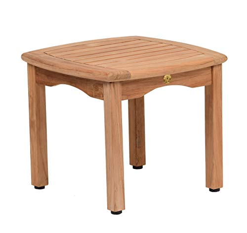 Amazonia Lincoln 1-Piece Outdoor Square Side Table | Teak Wood | Ideal for Patio and Indoors, 20 x 20