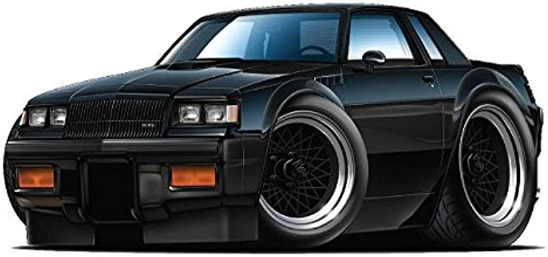 1987 Buick GNX WALL DECAL Vintage 3D Car Movable Stickers Vinyl Wall Stickers For Kids Room