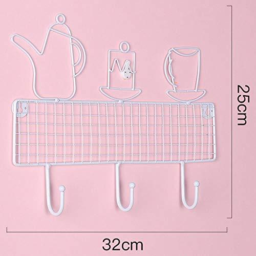 Nordic Porch Wandplank Sleutelhaak Decoratie Creatief Metaal Jas Hoed Hanger Haken Ornamenten Deur Muur Hangend Opbergrek Geschenken nieuw, J