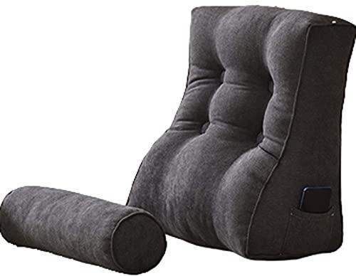PPOIU Cuscino da lettura Letto Cuscino da lettura e TV a Forma di cuneo con cuscino per il Collo Schienale Cuscino da lettura Cuscino per letto Grande Schienale per adulti Cuscino da Sal