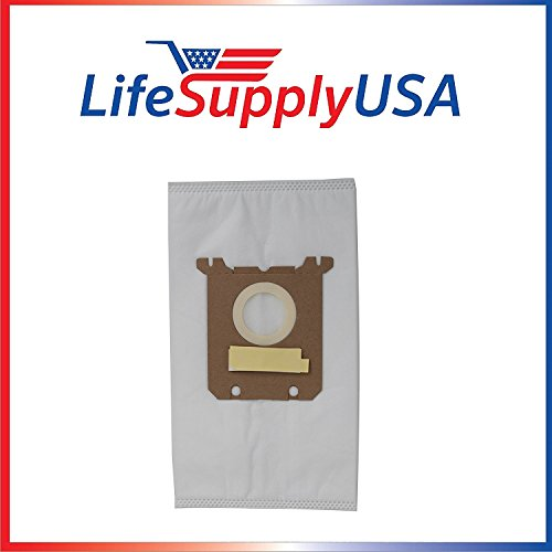 LifeSupplyUSA 2 Packs of 5 (10 count) Vacuum Bags Compatible with Nilfisk Kent Advance Euroclean Hip Vac Compatible with 1407015040 140655405
