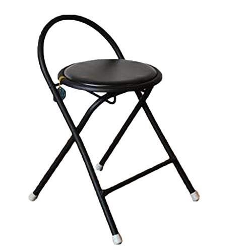 GXDHOME Klappstuhl, leichte Schwarze Starke Stahl-Faux-Leder-geeignet für Büro im Freien Garten Restaurant Sitzung Dining Camping Wohnzimmer