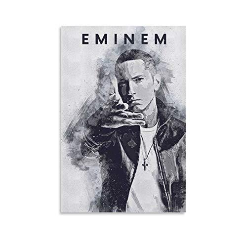 WERTQ Eminem【】. Poster dekorative Malerei Leinwand Wandkunst Wohnzimmer Poster Schlafzimmer Malerei 12x18inch(30x45cm)