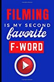 Filming Is My Second Favorite F-Word: Filming Gifts Idea For Men, A Linen Notebook With A Funny Quote