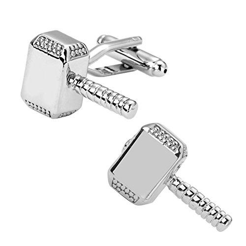 SS Men's Thor Hammer Cufflinks Silver