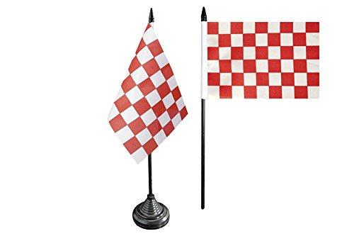 Bandera fritze mesa bandera de cuadros rojo-blanco - 10 x 15 cm