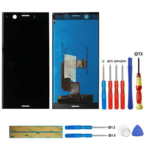 swark Écran tactile LCD compatible avec Sony Xperia XZ1 Compact G8441 - Noir (sans cadre) - Verre de montage + outils
