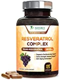 Pure Resveratrol - Extra Strength 1800mg Per Serving - Made in USA - Potent Antioxidant Supplement Extract, Natural Trans-Resveratrol Pills for Heart, Aging, and Weight Support - 120 Capsules