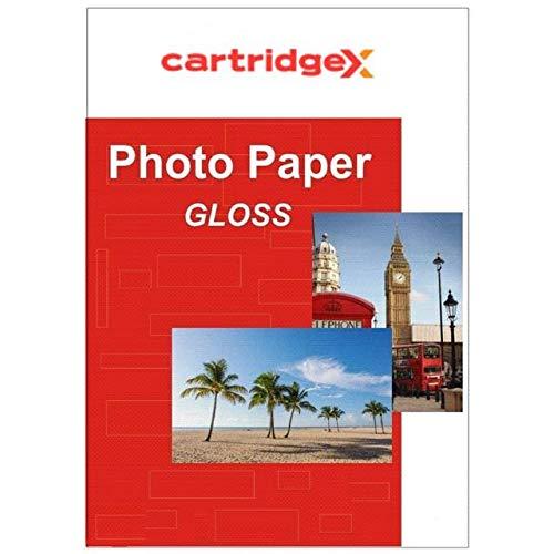 Cartridgex - 20 Hojas de Papel fotográfico de Repuesto para Impresora de inyección de Tinta (Brillo de 185 g/m², 6 x 4)