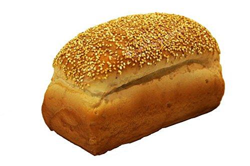 Handgemachte & Realistische Lebensmittel Attrappe - Ganzes Brot - Länge 18cm / Höhe: 10cm / Breite: 9cm
