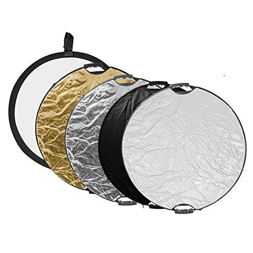 Wecellent 5in1 Faltreflektor Fotografie Reflektor 110cm mit Handgriff