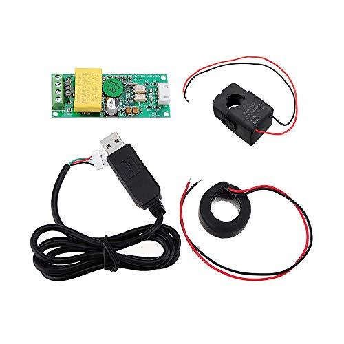 Condensadores TTL Serial Comunicación Módulo Voltaje Actual frecuencia Frecuencia Modbus-RTU 0-100A AC220 (Color : 100A+Closed CT+USB)