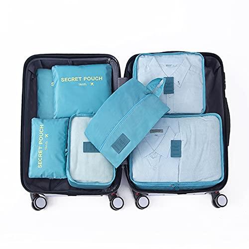 Wmeat-P Bolsa de almacenamiento de viaje, organizador de bolsas de almacenamiento, para ropa seca, zapatos, ropa interior, cosméticos, libros, caramelos