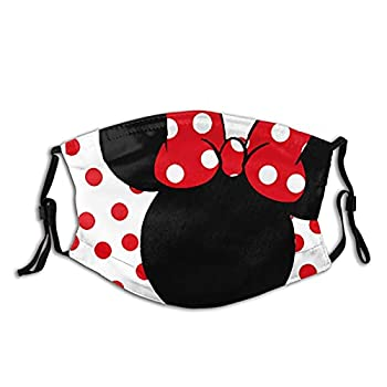 Cute Dis-ney Minnie Mouse Face Mask Dis-ney Mickey Mouse Face Mask Reusable Washable Balaclavas with 2 Pcs Filters