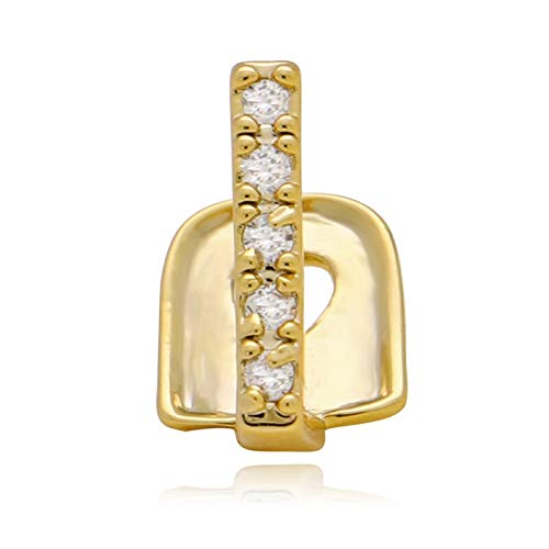 SMXGF LuReen Gold Teeth Grills Diamond Grillz Top Single Grills Dental Tanden Caps Rhinestone Tooth Clips Hip Hop Party Jewelry (Metal color : Gold crown)