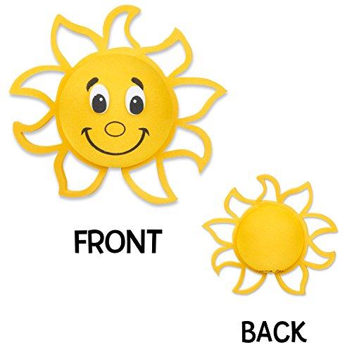 Tenna Tops Happy Sun Sunshine Antenna Topper / Mirror Dangler / Desktop Spring Stand Bobble