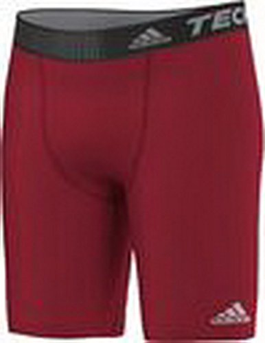 adidas Herren Short Techfit Base ST 9 Funktionsunterwäsch Bekleidung, Universal Red, XS