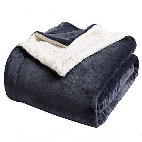 Bedsure Kuscheldecke Decke Sofa, weiche& warme Fleecedecke als Sofadecke/Couchdecke, kuschel Wohndecken Kuscheldecken, 150x200 cm extra flaushig und plüsch Sofaüberwurf Decke -Asche_200 cm x 230 cm