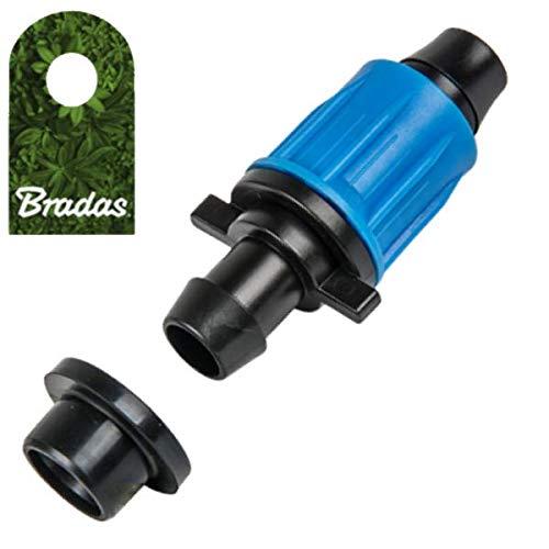 Bradas 0186 - Conector para Manguera de riego por Goteo para Tubos de Polietileno de 16 mm con Junta