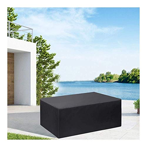 FWZJ Garden Furniture Covers, 420D Waterproof Table Covers Outdoor Dust-proof Anti-UV Sofa Tables And Chairs Protection (Color : Black, Size : 330 * 220 * 95cm)