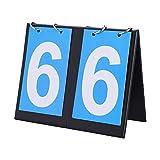 Keenso Marcador, 2/3/4 Dígitos Marcador Manual, Contador de Puntajes para Baloncesto, Voleibol (2-Digit)