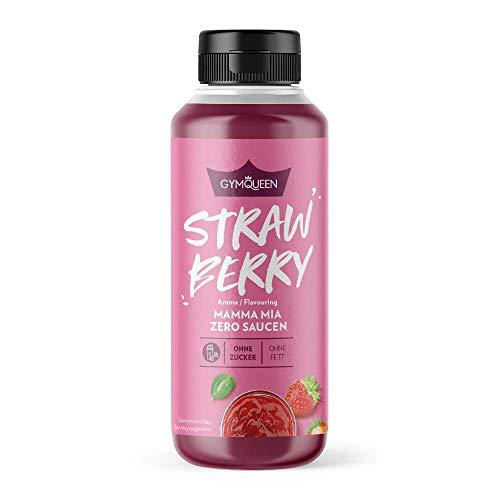 GymQueen Mamma Mia Zero Sauce | kalorienarm, ohne Fett & ohne Zucker | Zum Verfeinern von Gerichten und Nachspeisen | vegetarisch und laktosefrei | Strawberry Sensation Soße (Erdbeer-Sauce)