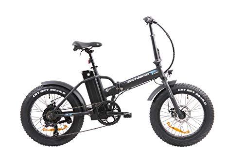 F.lli Schiano E-Boss, Bicicletta elettrica pieghevole Unisex adulto, Nera, 20''