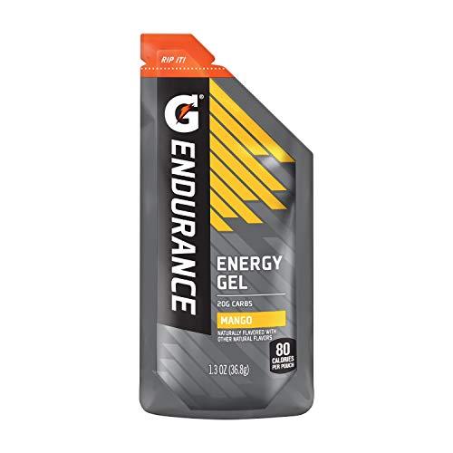 Gatorade Endurance Energy Gel, Mango, 1.3 Oz Pouches, Pack of 21