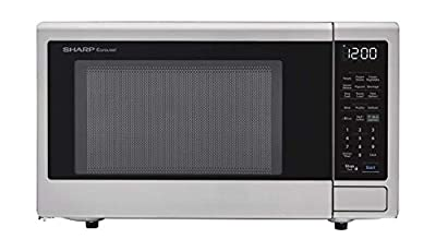 Sharp ZSMC1449FS Smart Countertop Microwave Oven 1.4 Cubic Foot, Stainless Steel-Works with Alexa (Renewed)
