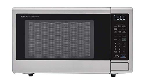 Sharp ZSMC1449FS Smart Countertop Microwave Oven 1.4 Cubic Foot, Stainless Steel-Compatible with Alexa (Renewed)