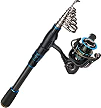 Magreel Fishing Rod and Reel Combo Carbon Fiber Telescopic Fishing Pole with Reel Combo Fishing Rod Kit for Saltwater Freshwater