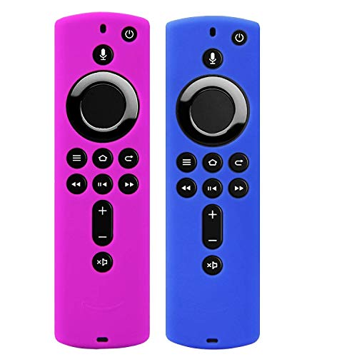 Ducomi Custodia Telecomando per Fire TV Stick 4K/Fire TV (3° Generazione) Guscio Protezione Compatibile con Remote Alexa di Seconda Generazione - Copri Telecomando Protettivo in Silicone (Set of 2)