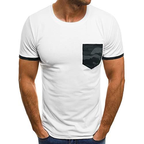 Manadlian-Homme Hommes T-Shirt Mode Imprimé Lettre Manches Courtes Haut Col Rond Tops Ete 2019 Chemisier