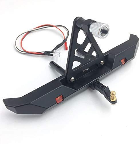 KK LTD Aleación De Parachoques Trasero con Bastidor De Neumáticos De Repuesto para 1/10 RC Crawler TRX-4 (J)