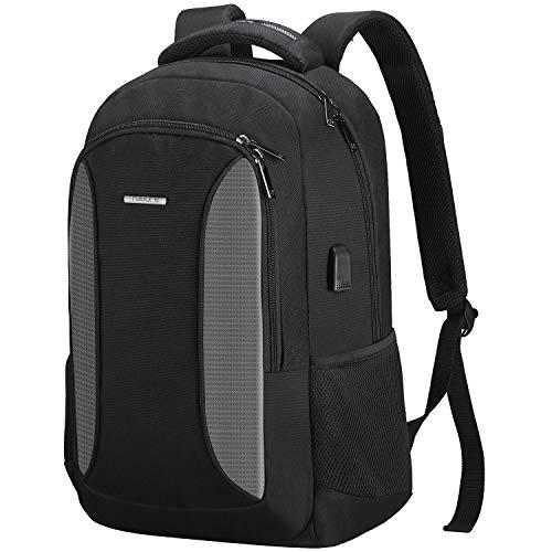 TOGORE Laptop Backpack, 35L Business School Travel Rucksack with USB Charging Port for Men Women,Slim Water Resistant Work Bag Daypack Fits 15.6 Inch Computer Notebook(grey)